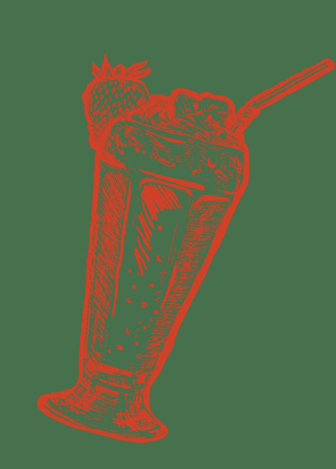 close-up of a milkshake